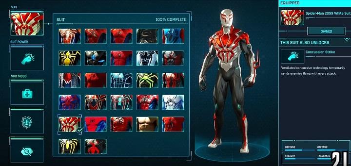 スパイダー2099ホワイトスーツ