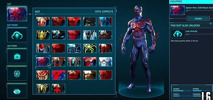 スパイダー2009ブラックスーツ