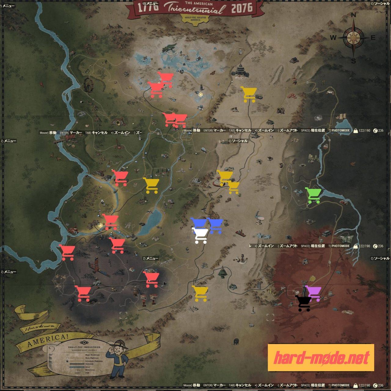 ベンダー派閥色分けマップ