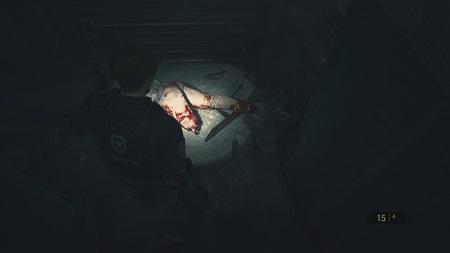 バイオRE2 ゾンビの欠損描写2