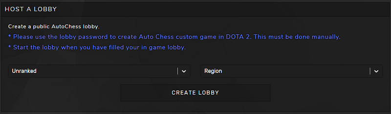 CREATE LOBBY オートチェス