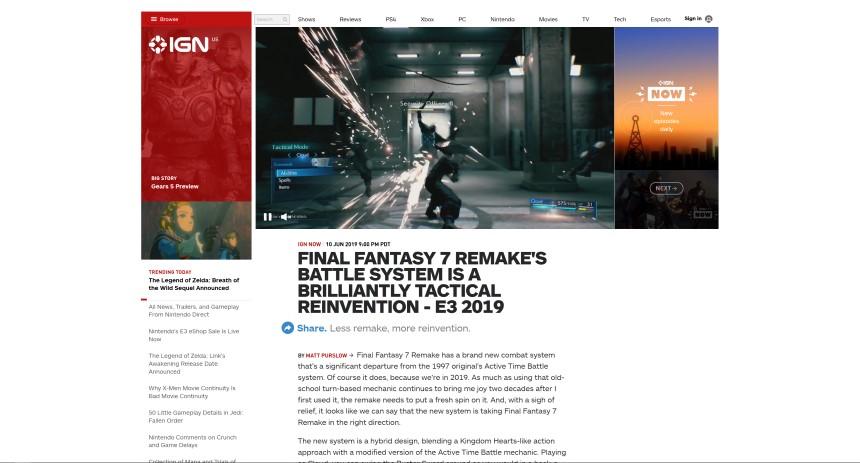 IGN FF7リメイク