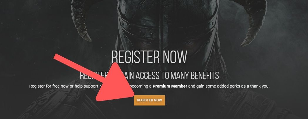 Register Now mod