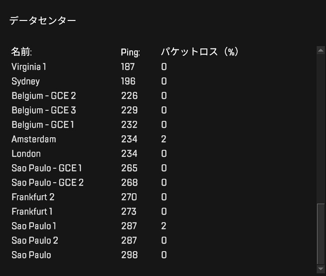 apex ping 重い