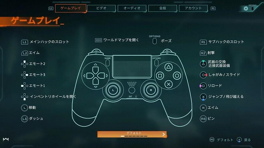 ハイパースケープ PS4 操作方法