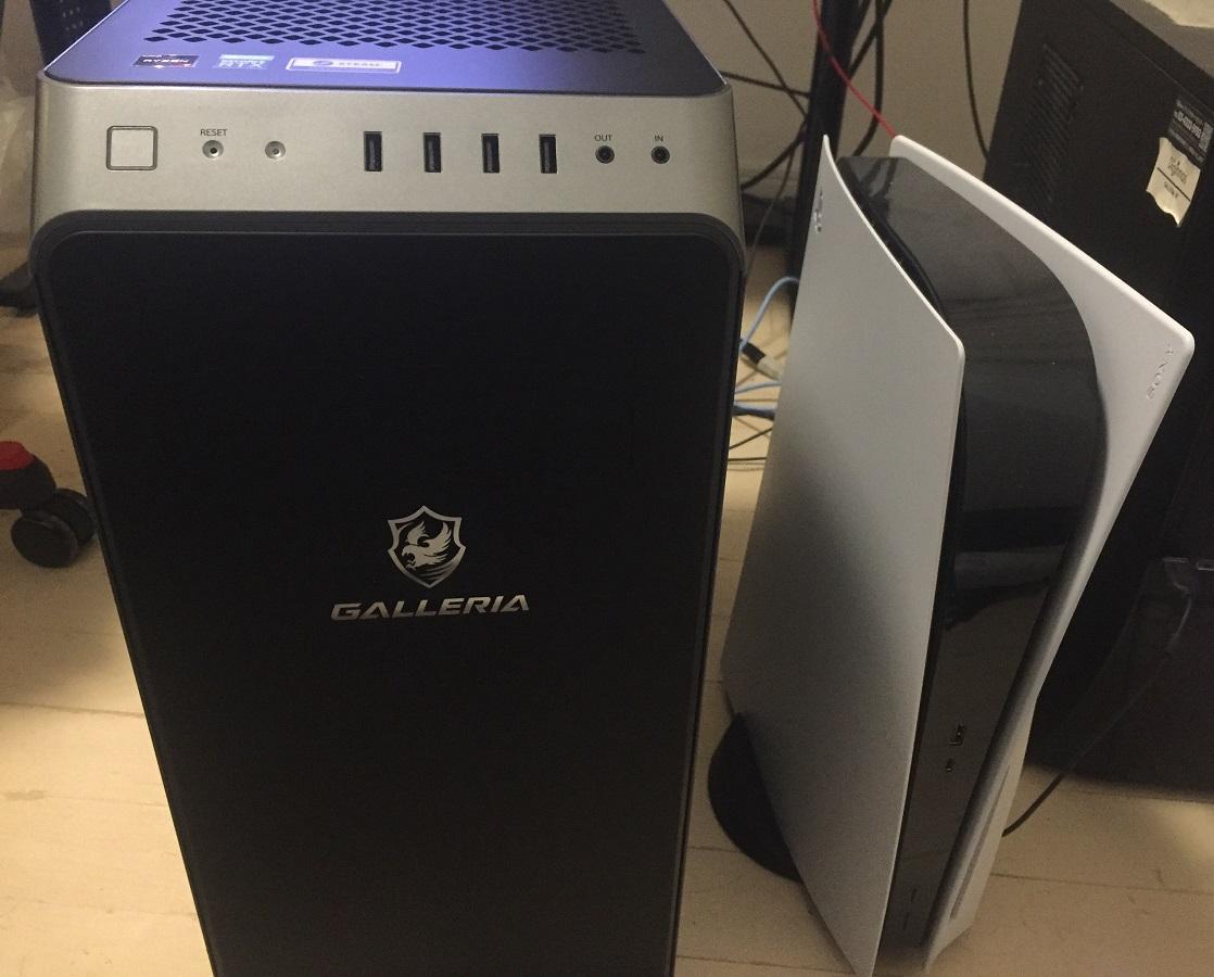 GALLERIA XA7R-R37 サイズ