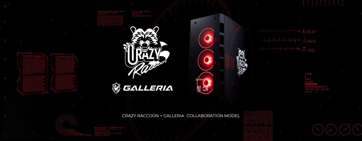 「Crazy Raccoon」コラボゲーミングPCモデル